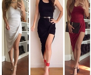 accessories, burgundy, and dress image