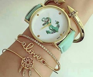 girl, ring, and watch image