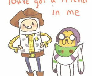 adventure time, toy story, and buzz image