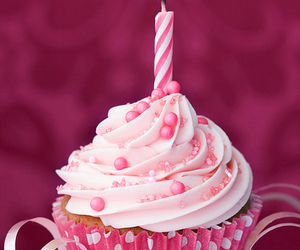 cupcake, pink, and birthday image