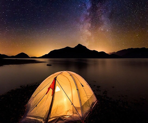 awesome, lake, and tent image