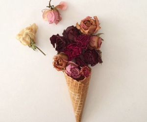 background, cone, and flowers image