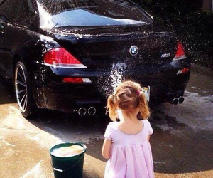 beautiful, little girl, and and bmw image