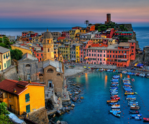 italy, vernazza, and sea image