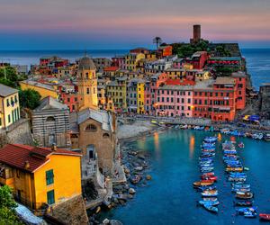 italy, vernazza, and sea image
