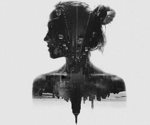 girl, city, and art image