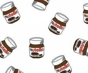 nutella, wallpaper, and chocolate image