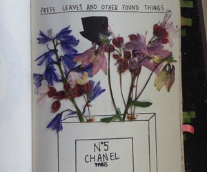 chanel, flowers, and journal image
