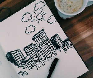 tattoo, coffee, and drawing image