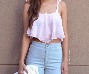jeans, outfit, and summer image