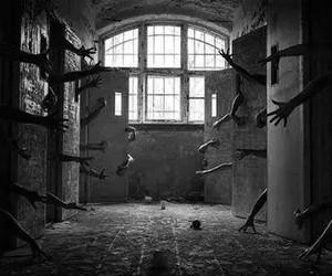 asylum, dark, and hands image