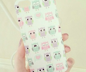 cute, owl, and iphone image
