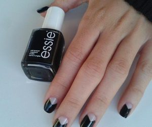 black, brand, and nails image