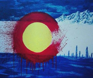 colorado, mountains, and painting image