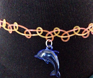 dolphin, 90s, and choker image
