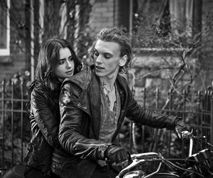 city of bones, couple, and mortal instruments image
