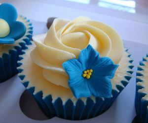 cupcake, cute, and blue image