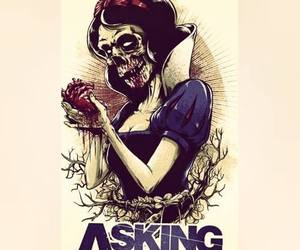 band, asking alexandria, and snow white image