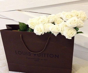 flowers, Louis Vuitton, and rose image