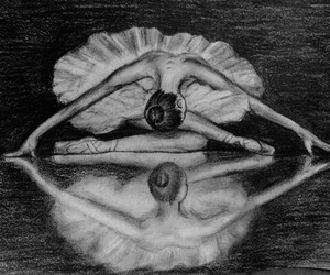 drawing, ballet, and art image