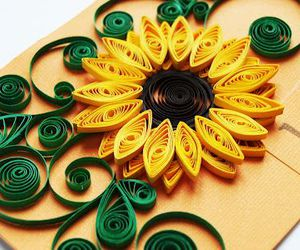 cool, sunflower, and paper quill image