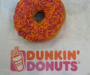 donut, dunkin, and orange image