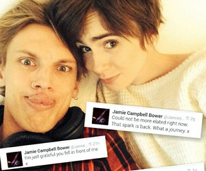j, Jamie Campbell Bower, and instagram image