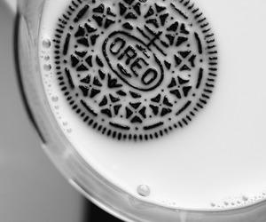 food, oreo, and milk image