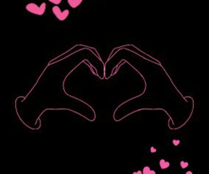 hands, love, and hearts image