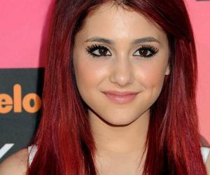 ariana grande, hair, and red hair image
