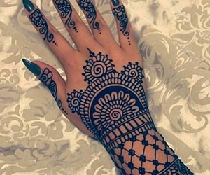 henna, girl, and nails image
