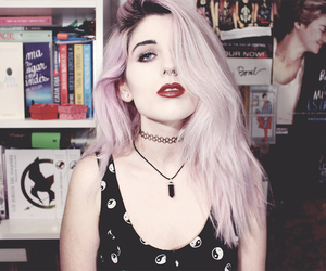 grunge, pink hair, and drew tua image