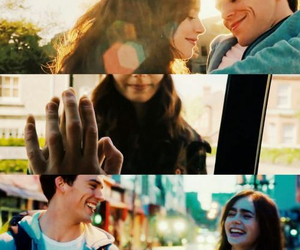 couple, lily collins, and sam caflin image