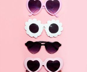 pink, sunglasses, and cute image
