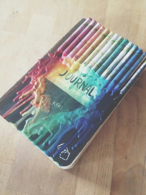 journal, art, and colors image