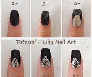black, diy, and nail art image