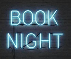 book, neon, and night image