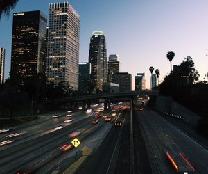 city, light, and road image