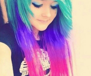 blue, emo, and colorful image