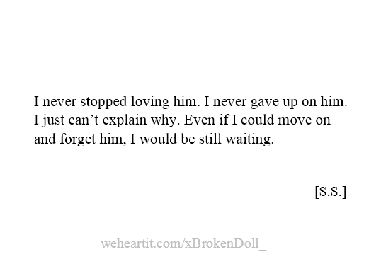 I never regret loving him || Made by me.- S.S.