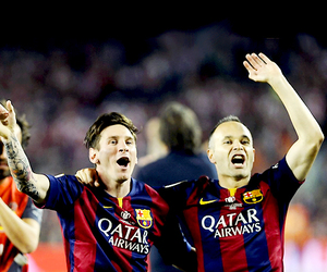 fc barcelona, lionel messi, and argentina nt image