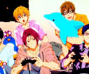boys, haruka nanase, and rin matsouka image