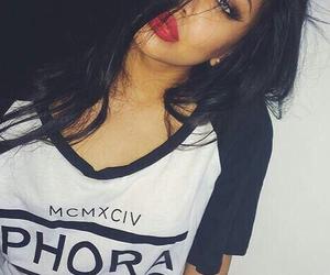 girl, lips, and makeup image