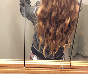 curly, curly hair, and hair image