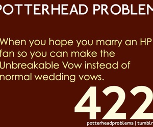 harry potter, marriage, and potterhead image