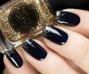 nails, elegant, and manicure image