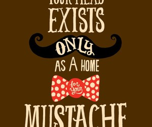 mustache, moustache, and quote image
