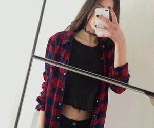 girl, grunge, and outfit image