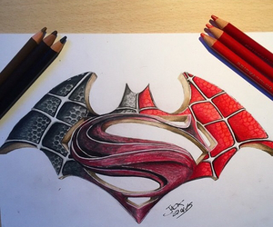 batman, superman, and spiderman image