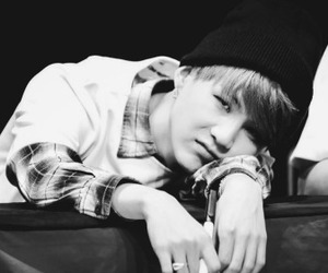 black and white, suga, and edits image